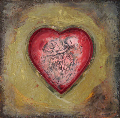 Painting - Enshrine - Inward Heart by Janelle Schneider