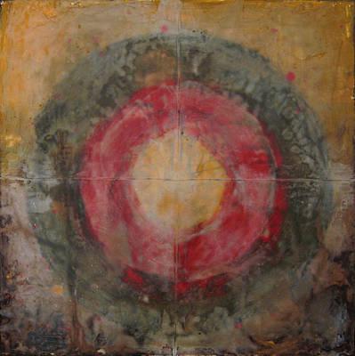Encaustic Painting - Enshrine - Mindfulness by Janelle Schneider