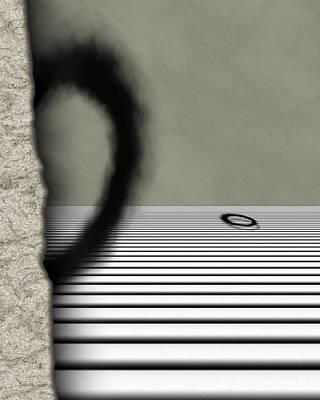 Fuzzy Digital Art - Enso 3 by Vic Eberly