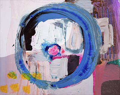 Painting - Enso, Blue Planent, Warm Heart by Amara Dacer