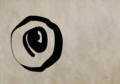 Digital Art - Enso Circle by Casey Shannon