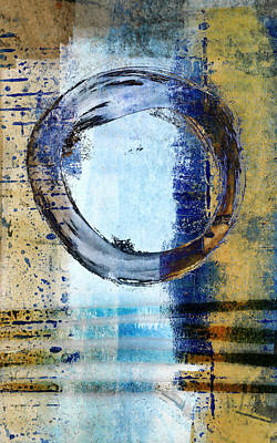 Circle Digital Art - Enso Circle In Glass by Carol Leigh