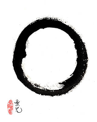 Painting - Enso Enlightenment by Oiyee At Oystudio