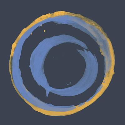 Painting - Enso T Blue Orange by Julie Niemela