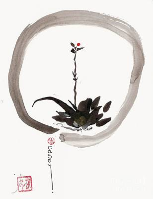 Painting - Enso Willow Bud by Casey Shannon