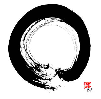 Painting - Enso / Zen Circle 10 by Peter Cutler