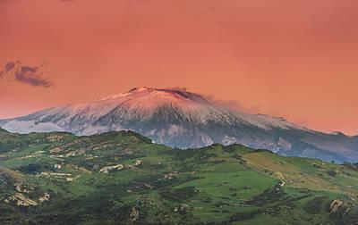 Photograph - Enta Volcano Sunset by Emilio Messina