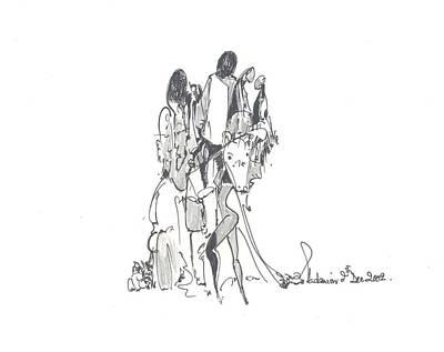 Entangled Forms Art Print by Padamvir Singh