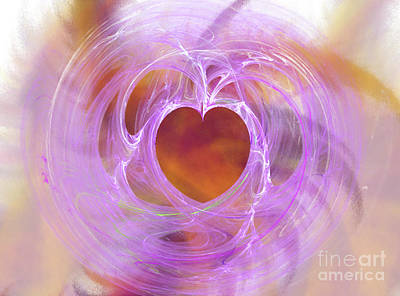 Digital Art - Entangled Heart by Donna Walsh