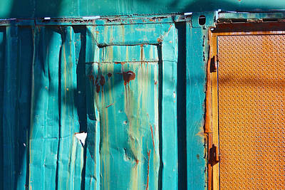 Turquoise And Rust Photograph - Enter Atlantis by Eliza McNally