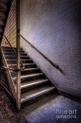 Of Stairs Photograph - Enter The Darkness by Evelina Kremsdorf