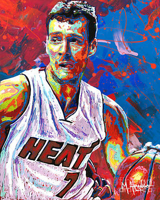 Shooting Guard Painting - Enter The Dragon by Maria Arango