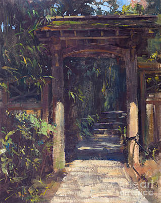 Wall Art - Painting - Enter The Garden by Patrick Saunders