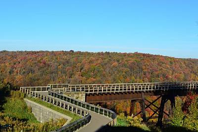 Kinzua Photograph - Enter The Kinzua Skywalk by Shelley Smith