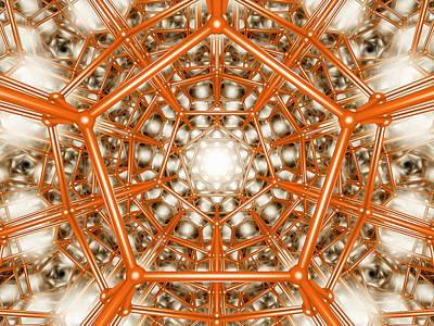 Dodecahedron Digital Art - Enter The Matrix by Scott Onstott