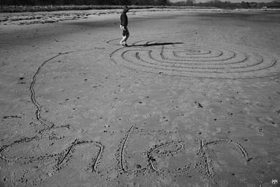 Photograph - Enter The Sand Maze by John Meader
