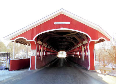 Photograph - Enter The Thompson Bridge - Covered Bridge by MTBobbins Photography