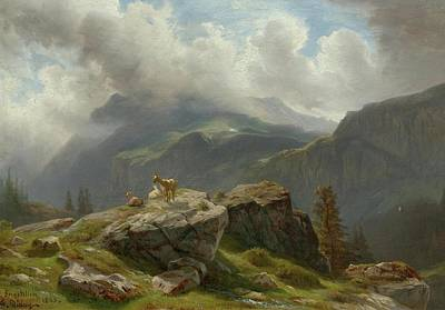 Alps Painting - Entere De La Vallee De Melchtal by Francois