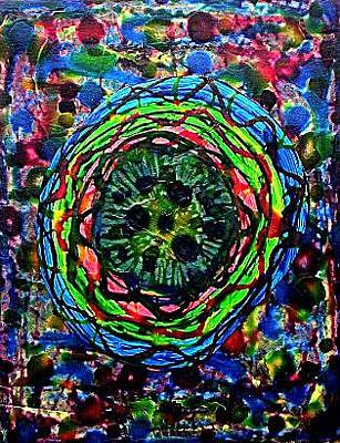 Painting - Entering Deep Space by Michael Puleo