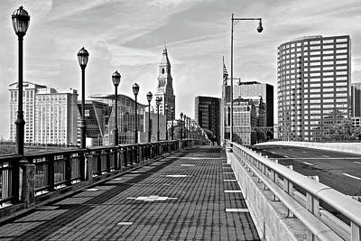 Photograph - Entering Hartford In Black And White by Frozen in Time Fine Art Photography