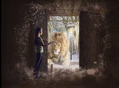 Meerkat Digital Art - Entering Narnia by Imelda Bell