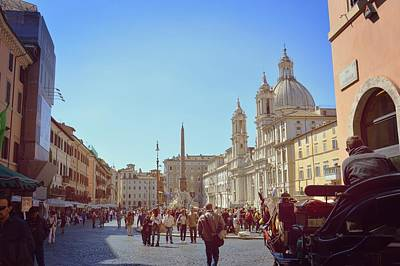 Photograph - Entering Piazza Navona by JAMART Photography