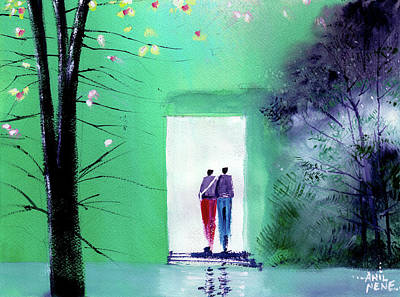 Painting - Entering The Light by Anil Nene