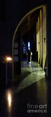 Trappist Monk Photograph - Entering The Private Entrance by Tom Cruickshanks
