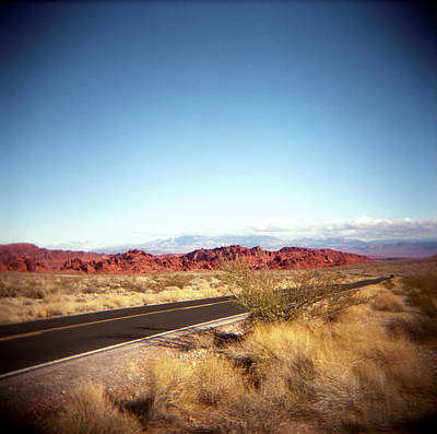 Entering The Valley Of Fire Print by Lori Andrews