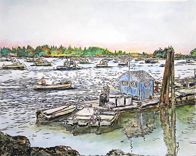 Entering Vinal Haven, Maine Art Print
