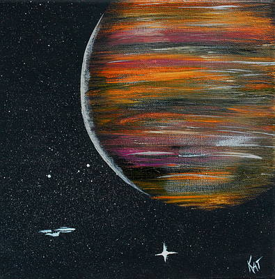 Painting - Enterprise And Planet by Kat Heckenbach