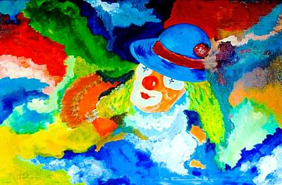 Art Print featuring the painting Entertainer by Piety Dsilva