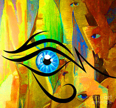 Abstract Sights Mixed Media - entEYEcement  by Tammera Malicki-Wong