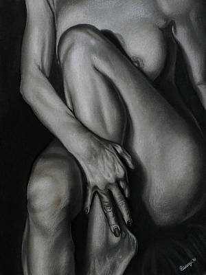 Drawing - Entice by Courtney Kenny Porto