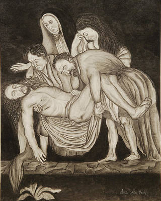 Painting - Entombment by Alma Bella Solis