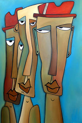 Dog Abstract Art Painting - Entourage by Tom Fedro - Fidostudio