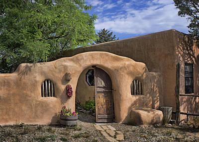Photograph - Entrance - Adobe Home by Nikolyn McDonald