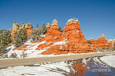 Photograph - Entrance And Reflection Of Red Canyon by Sue Smith