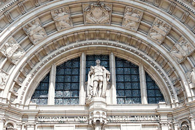 Photograph - Entrance Arch With Sculptures Low Angle V And A Museum, London by Jacek Wojnarowski