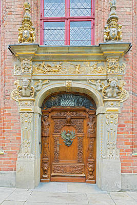 Photograph - Entrance Door In Gdansk, Poland. by Marek Poplawski