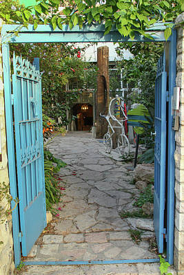 Art Print featuring the photograph Entrance Door To The Artist by Yoel Koskas