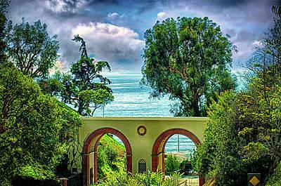 Photograph - Entrance Exit Getty Villa by Joseph Hollingsworth