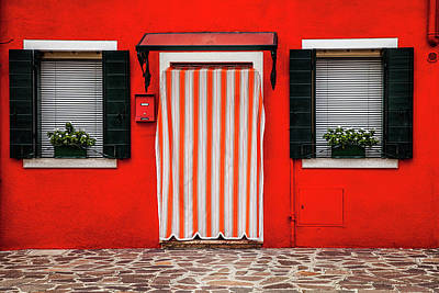 Exterior Photograph - Entrance In Burano by Andrew Soundarajan