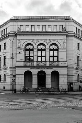 Photograph - Entrance In To University Of Fine Arts In Poznan Poland by Jacek Wojnarowski