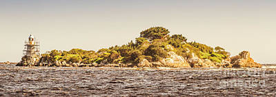 Panorama Wall Art - Photograph - Entrance Island Lighthouse, Hells Gates by Jorgo Photography - Wall Art Gallery