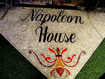 Entrance Mosaic Napoleon House Art Print by Ted Hebbler