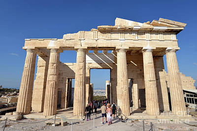 Photograph - Entrance Of Acropolis by George Atsametakis