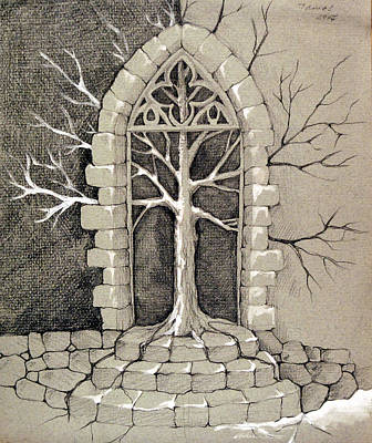 Entrance Door Drawing - Entrance by Tamas Cristina