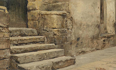 Painting - Entrance To A Mosque by Leopold Muller