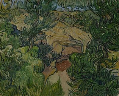 Painting - Entrance To A Quarry Saint Remy De Provence June 1889 Vincent Van Gogh 1853  1890 by Artistic Panda